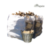 2 bulk bags of seasoned hardwood logs
